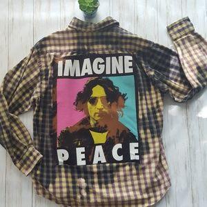 John Lennon bleached flannel size M